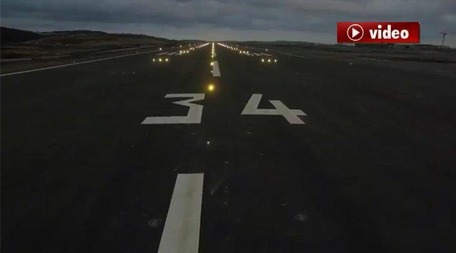 3. Havalimanı'nda Pistin Işıkları Yandı!video