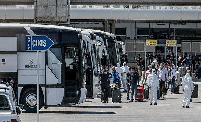 349 Türk işçisi karantinaya alındı