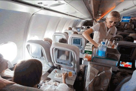 55 dakikalık uçuşta yemek servisi mi olurmuş...