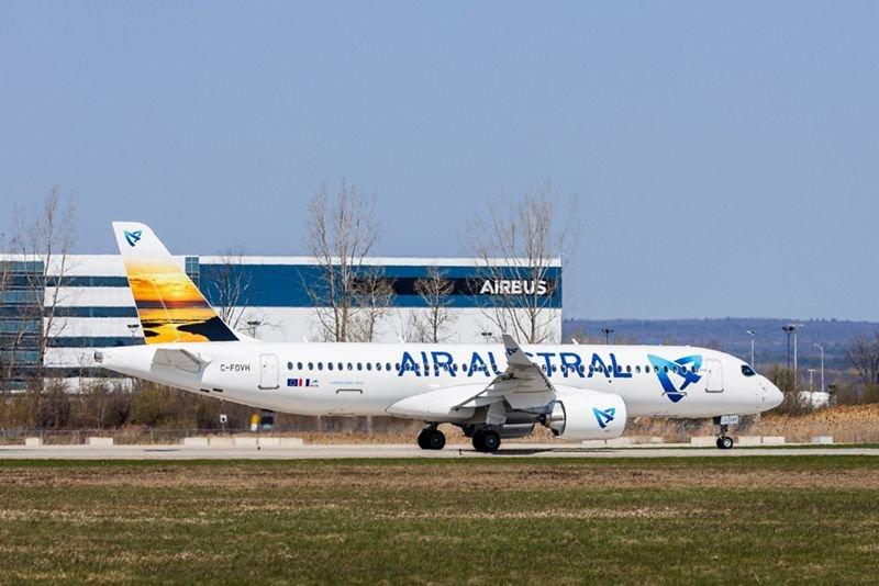 Air Austral için üç A220'den ilki, teslim edildi