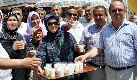 AK Parti'den vatandaşa ayran ikramı