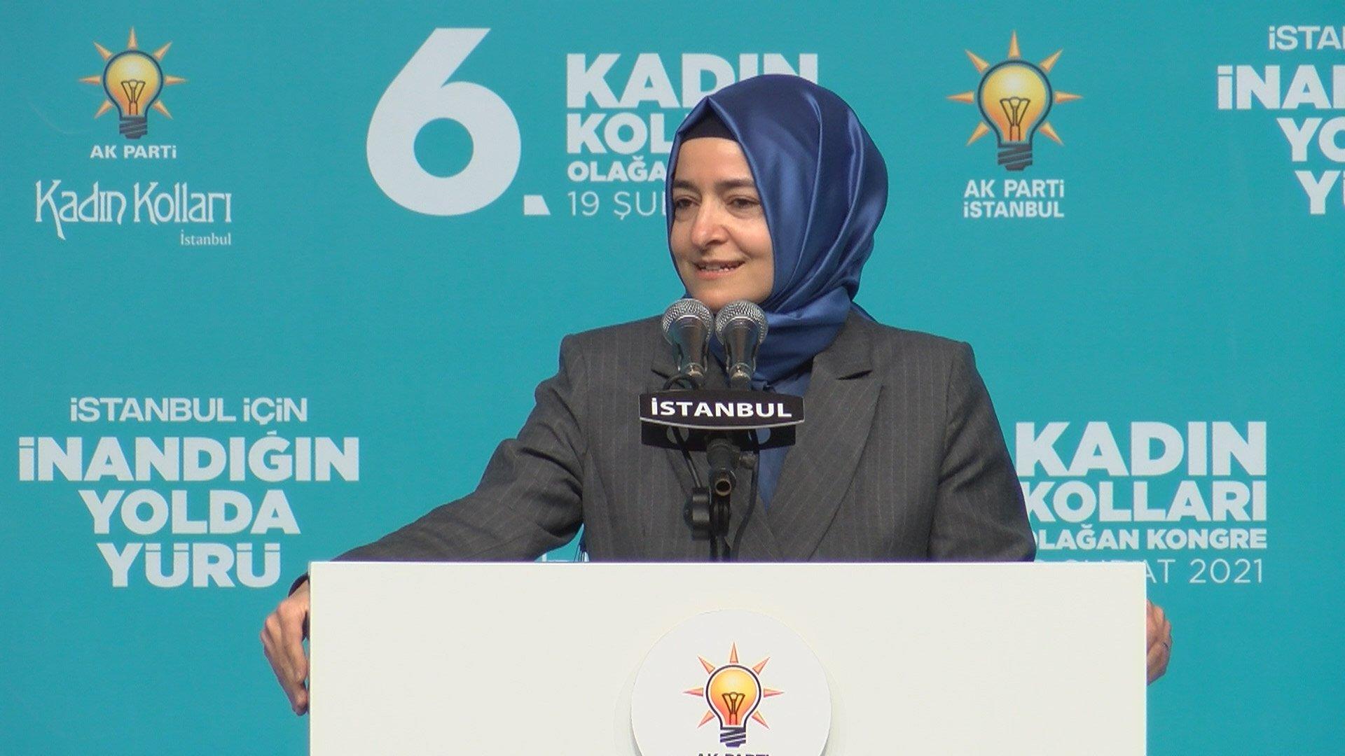 AK Parti İstanbul İl Kadın Kolları 6. Olağan Kongresi gerçekleşti