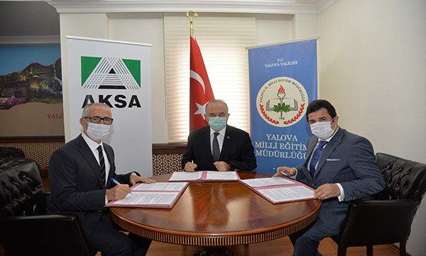 """""""Aksa Akrilik'ten Yalova'ya bir eğitim yatırımı daha"""