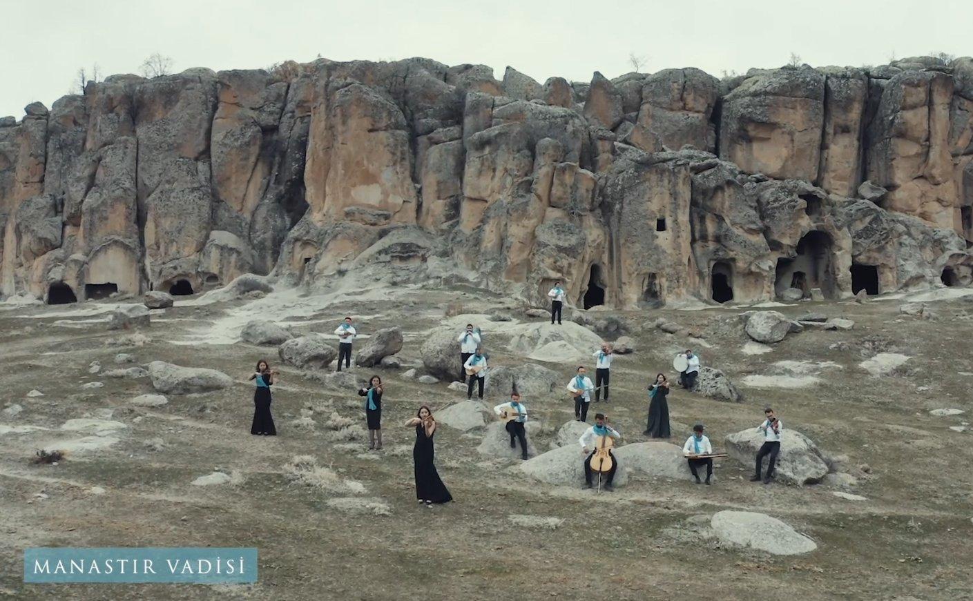 Aksaray'da çekilen 'Yunus Emre İçin Söyle' klibi(video)