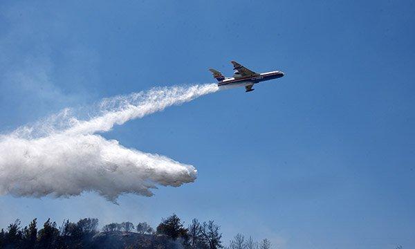 Antalya Aksu'da orman yangını