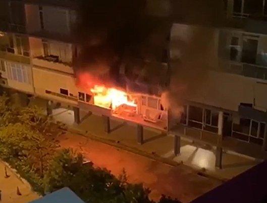 Antalya'nın 'ilk apartmanı'nda yangın çıktı