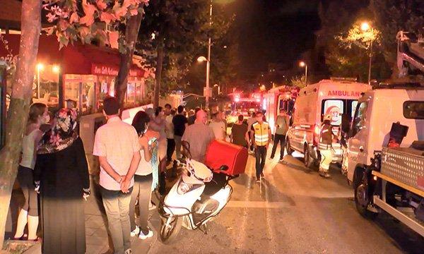 Ataşehir'de yangın 12 kişi hastaneye kaldırıldı