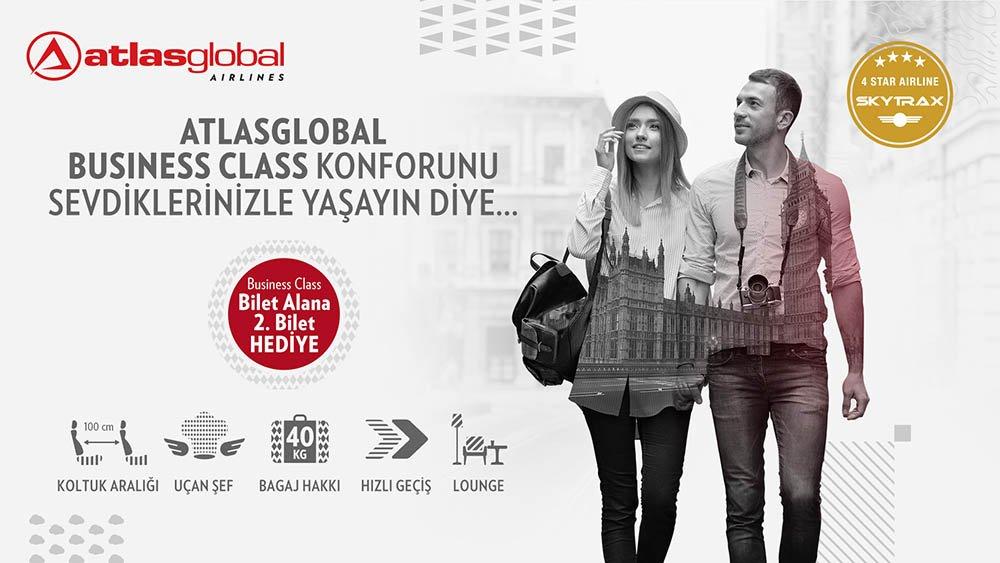 Atlasglobal, bir bilet alana ikinci bileti hediye ediyor