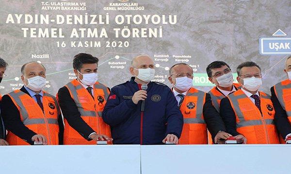 Aydın-Denizli Otoyolu Temel Atma Töreni(video)