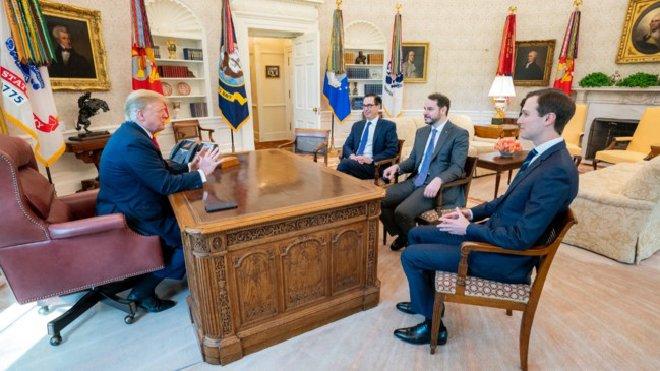 Bakan Albayrak, Beyaz Saray'da Trump'la görüştü!