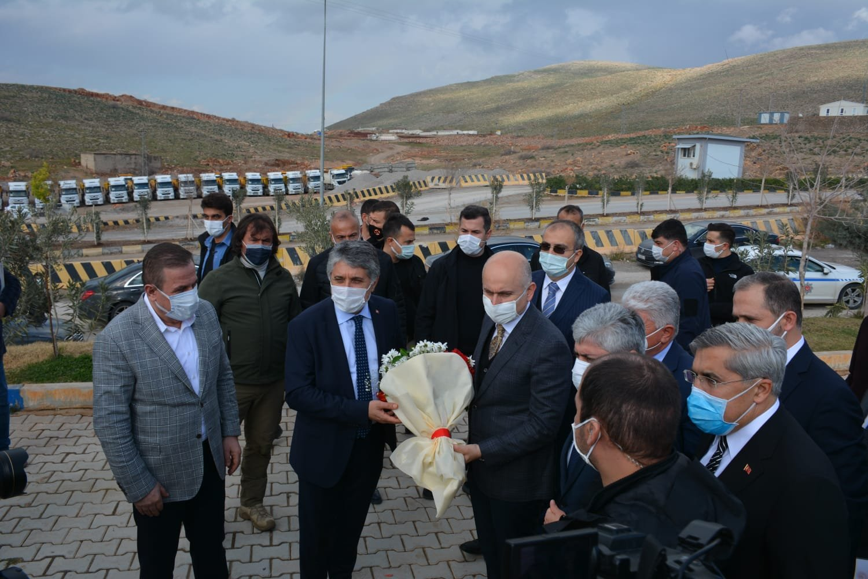 Bakan Karaismailoğlu Hassa Belediyesi'ni ziyaret etti(video)