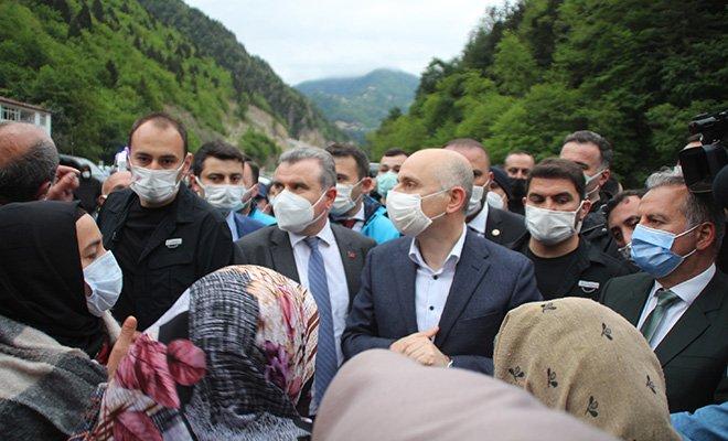 Bakan Karaismailoğlu'ndan İkizdere açıklaması(video)