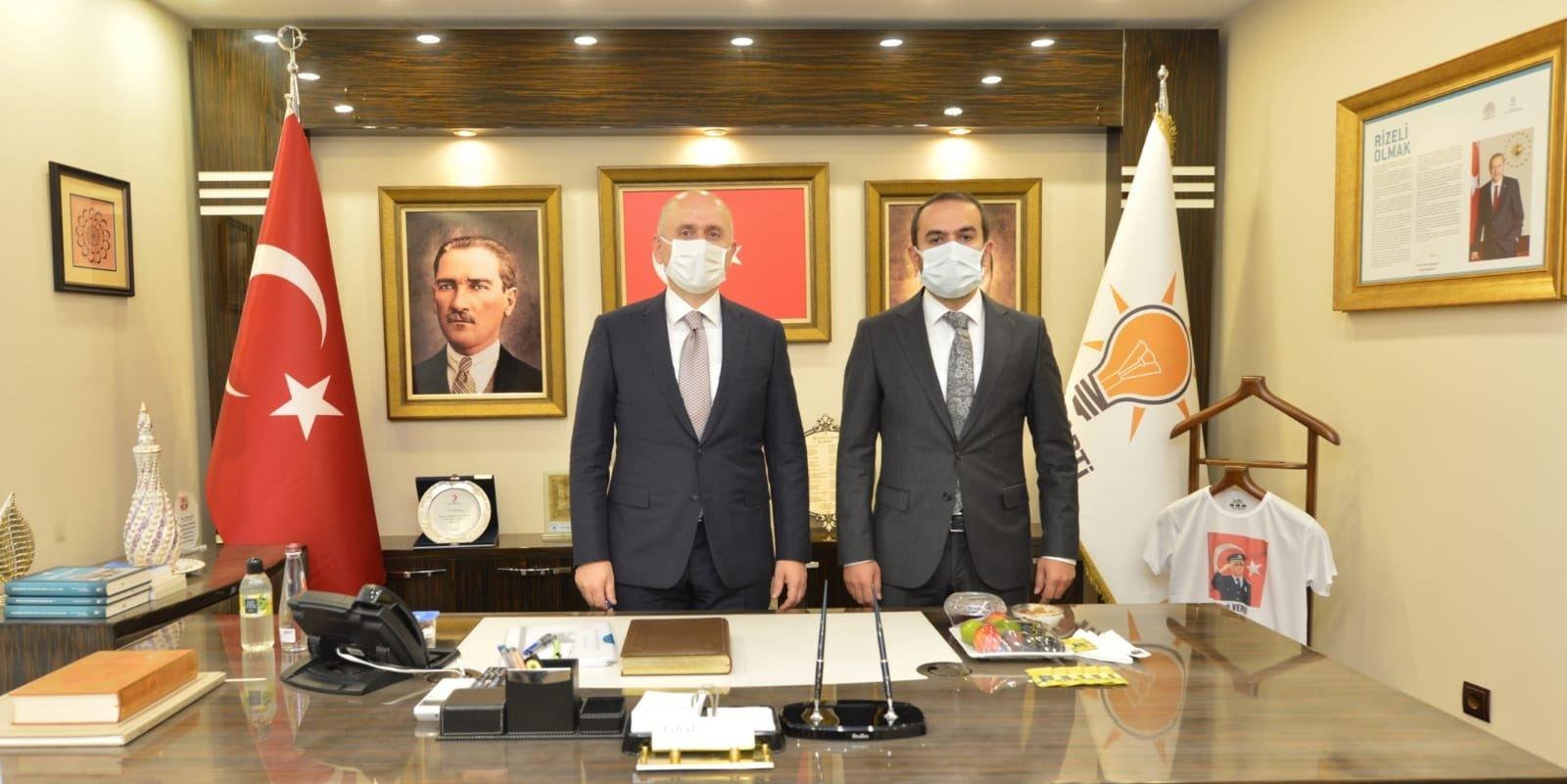 Bakan Karaismailoğlu Rize AK Parti İl Başkanlığında(video)