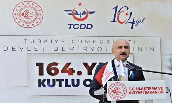 Bakan Karaismailoğlu, TCDD'nin 164. Yıl Kutlama Programı(video)