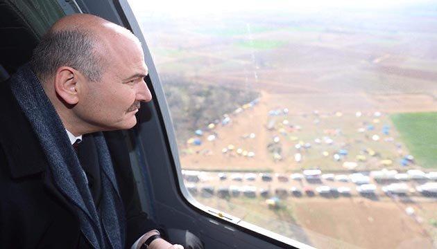 Bakan Soylu, Yunanistan sınırını havadan inceledi
