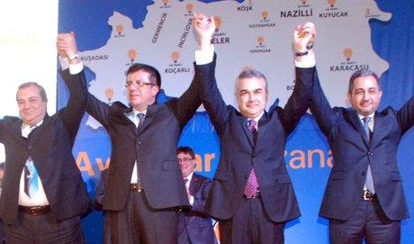 Bakan Zeybekci, Aydın belediye başkan adaylarını tanıttı