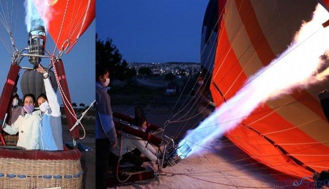 Balonlar, pilot adayları için havalandı