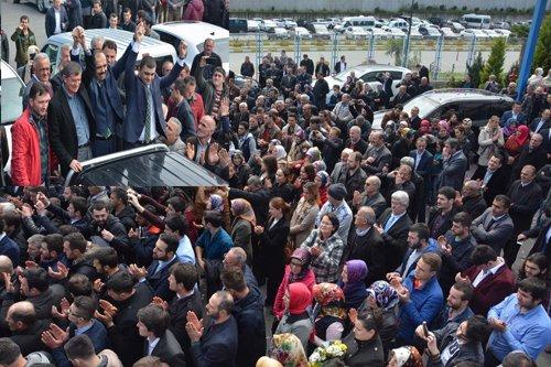 Balta'yı Trabzon'da coşkulu bir kalabalık karşıladı.