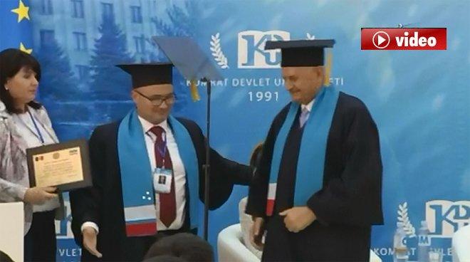 Başbakan Yıldırım'a fahri doktora verildi