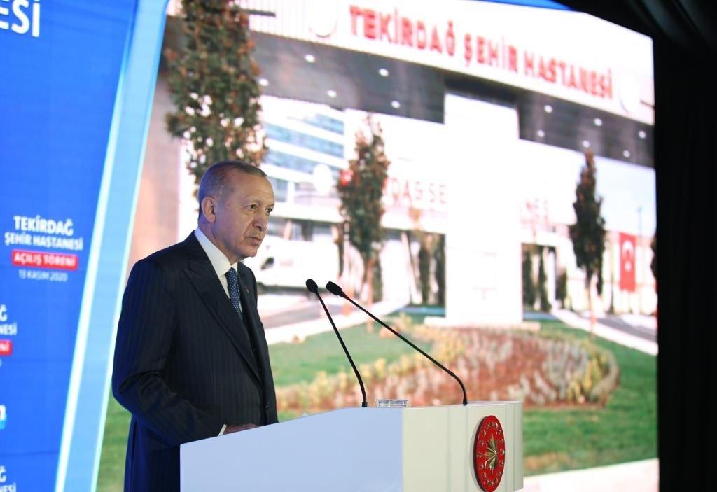 (video)Başkan Erdoğan,Tekirdağ Şehir Hastanemiz hayırlı olsun