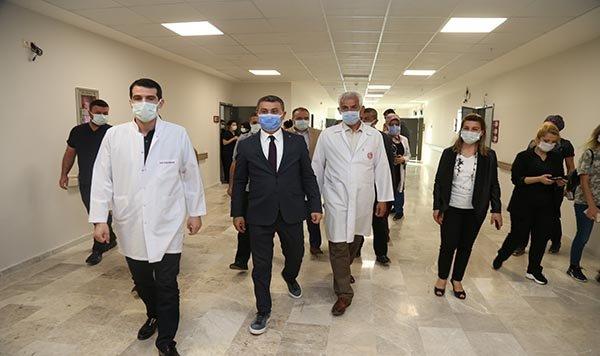 Başkan Şimşek'ten sağlık çalışanlarına ziyaret(video)