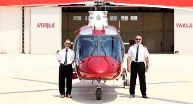 Belediyeden ikinci el Satılık helikopter