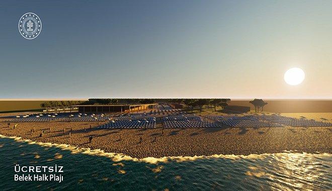 Belek ücretsiz halk plajları, sezona yetiştirilecek