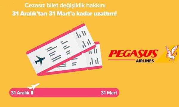 Biletinizi 31 Mart'a kadar alın, cezasız bilet değişiklik hakkından faydalanın!
