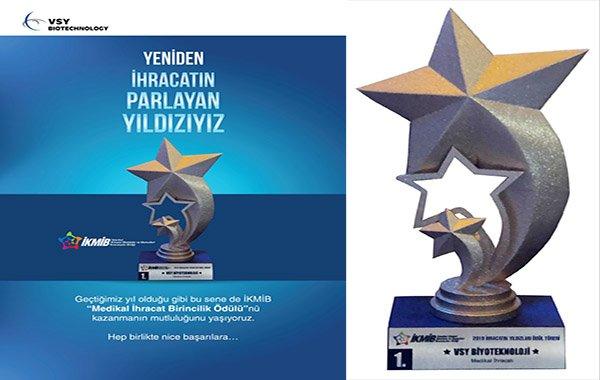 Biyoteknoloji şirketine 'ihracatın yıldızı' ödülü