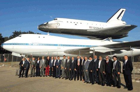 BTSO heyeti,Boeing ve Airbus'ı yerinde inceledi.