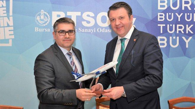 BTSO ile Anadolujet'ten güç birliği