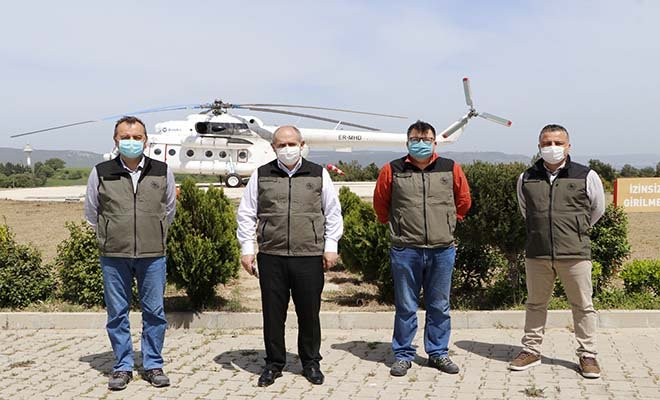 #Çanakkale'de yangın helikopteri kullanıma hazır video