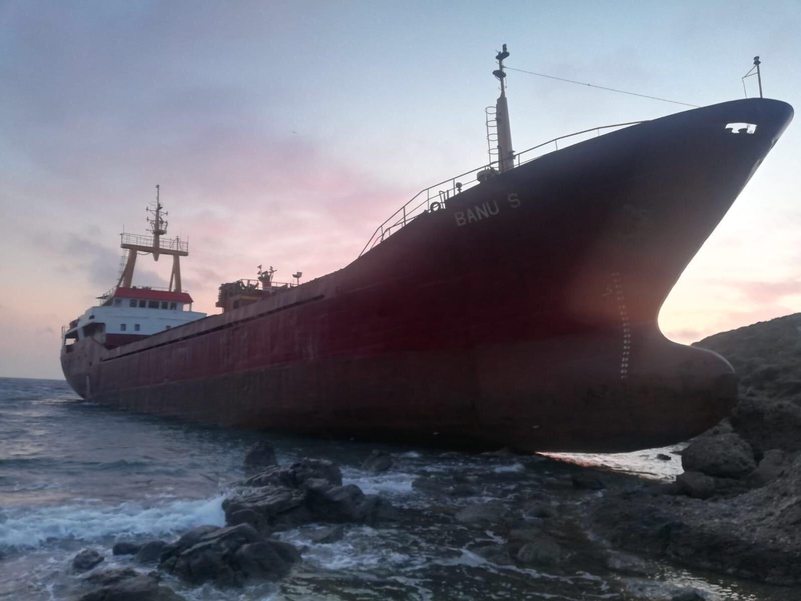 #Çanakkale,kargo gemisi karaya oturdu #video