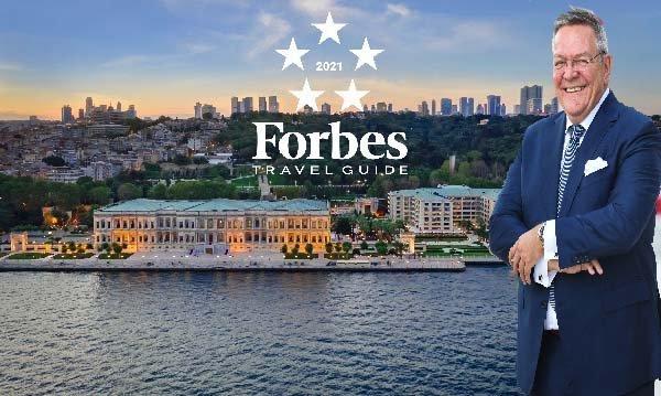 """Çırağan Sarayı'na Forbes Travel Guide'dan """"Beş Yıldız'' Verildi"""