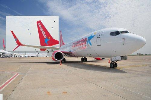 Corendon Airlines, yeni logosu ile uçtu