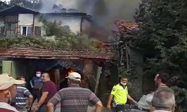 Çorum'da 5 kişinin öldüğü yangın