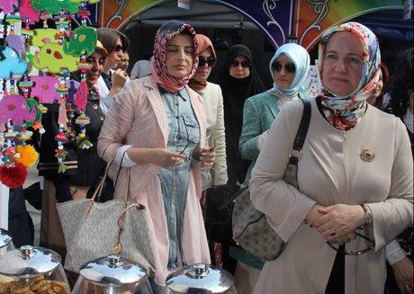 Çorum'da Kadın Emeği Fuarı açıldı.