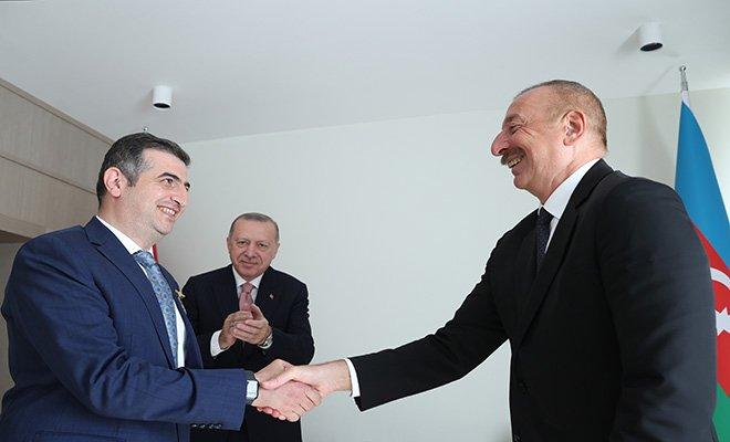 Cumhurbaşkanı Aliyev, Bayraktar'a 'Karabağ Nişanı'verdi#video