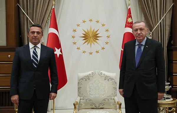 Cumhurbaşkanı Erdoğan, Fenerbahçe Başkanı Koç'u kabul etti