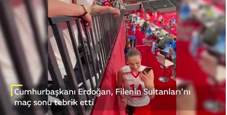 Cumhurbaşkanı Erdoğan, Filenin Sultanları'nı telefonla tebrik etti