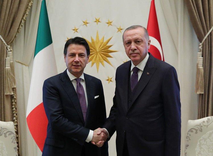 video Cumhurbaşkanı Erdoğan, İtalya Başbakanı Conte ile görüştü