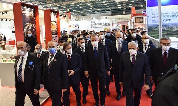 (video)Erdoğan, MÜSİAD EXPO 2020'yi ziyaret etti