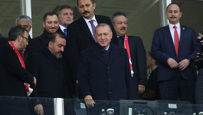 Cumhurbaşkanı Erdoğan, Türkiye - Moldova maçını izledi