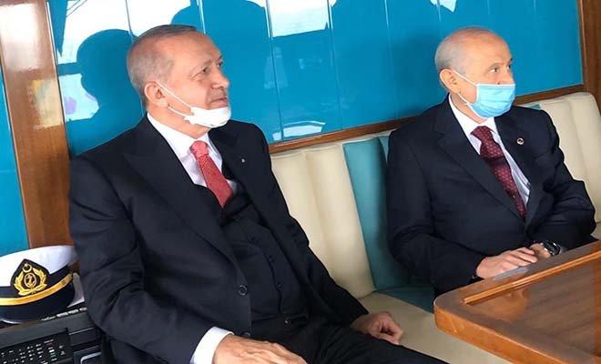 Cumhurbaşkanı Erdoğan ve Bahçeli'den aylar sonra maskeli ilk kare