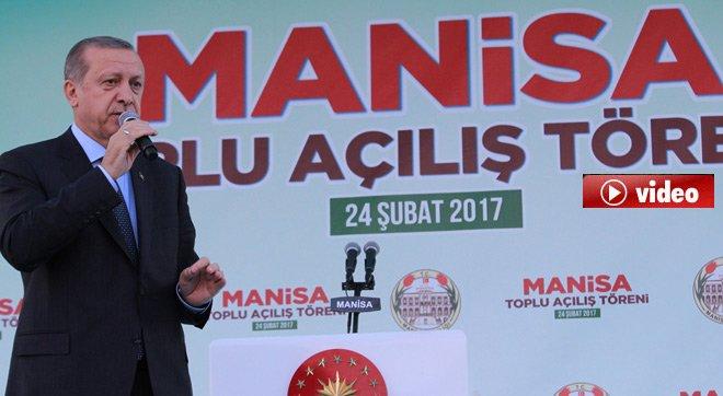 """Cumhurbaşkanı Erdoğan,""""Rejimle mejimle işimiz yok"""""""
