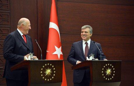 Cumhurbaşkanı Gül ve Norveç Kralı 5. Harald Ortak Basın Toplantısı Yaptı