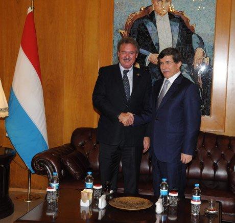 Davutoğlu, Lüksemburg Dışişleri Bakanı İle Görüştü