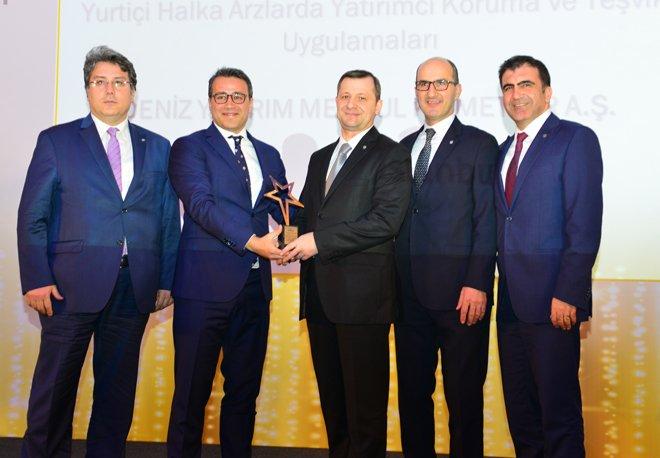 DenizYatırım'a 'En Yaratıcı Sermaye Piyasası Projesi Ödülü'