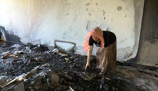 Diyarbakır'da klimanın patladığı ev kullanılmaz hale geldi