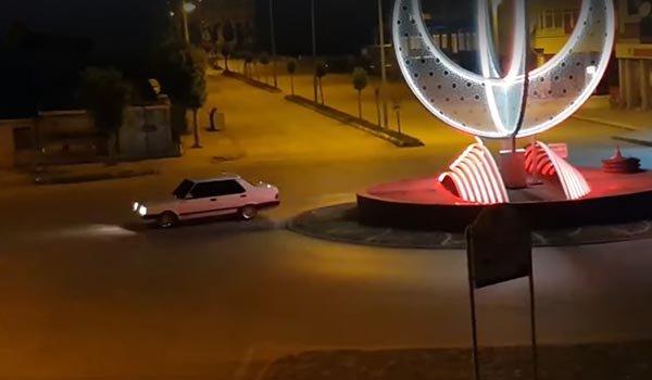 Drift yapan araca 7 bin 369 lira ceza